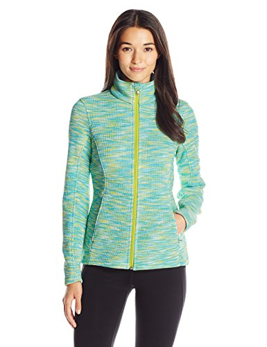 - Spyder Women's Endure Space Dye Full Zip Mid Weight Stryke Fleece,Medium,Freeze/White/Acid