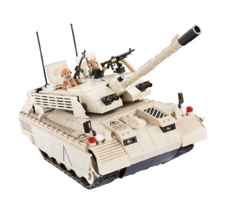 COBI Small Army Challenger I Desert Electronic Tank Construction Vehicle Review