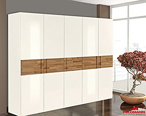 Arte M Kleiderschrank Schrank 398948 weiß / weiß hochglanz ...