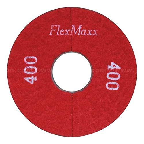 FlexMaxx 5‑Inch Concrete Polishing Pads, Very Fine, 400 Grit (2 Units)