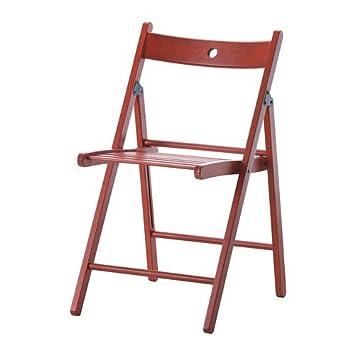 Ikea Terje - Silla Plegable, Rojo: Amazon.es: Hogar