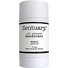 Zentuary 100% All Natural Aluminum Free Deodorant Stick for Women, Men & Kids of All Ages - Paraben Free, Phthalate Free, Gluten Free & Cruelty Free - Non-GMO - BPA Free (Naked Unscented)        UNSCENTED:  Naked is our classic...