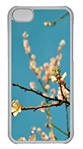 TYHde iPhone 6 4.7 Case and Cover -Peach Flowers Spring Polycarbonate Hard Case Back Cover for iPhone 6 4.7 Transparent ending