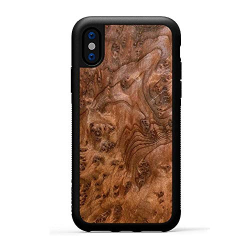 Carved | iPhone X | Luxury Protective Traveler Case | Unique Real Wooden Phone Cover | Rubber Bumper | Redwood Burl