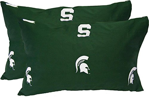 Michigan Printed Pillowcase - Michigan State Spartans Printed Pillow Case (Set of 2)