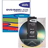 HHB 9.4GB (240 Minutes) 2-3x Double-Sided DVD-RAM Disc in Type 4 Cartridge