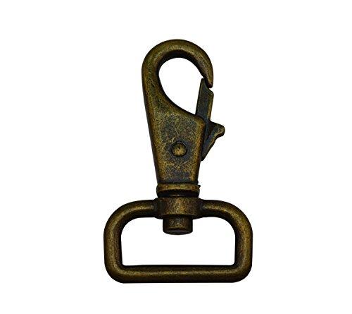 Tianbang Bronze 2,5cm inside diameter D Ring chiusura a moschettone girevole Eye lobster Snap chiusura a gancio per tracolla, confezione da 6 5.24