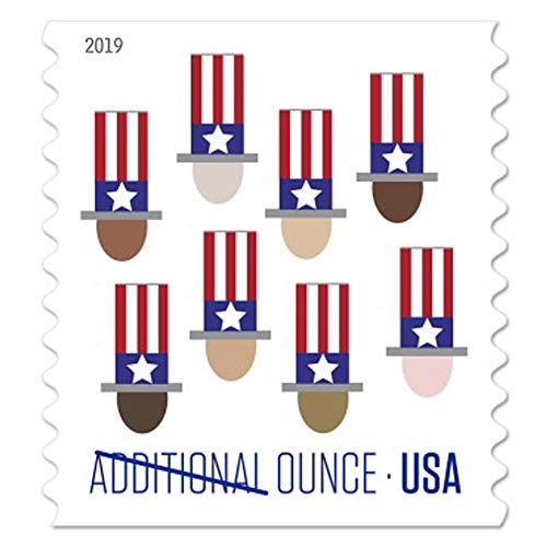 Additional Postage - 2017 Uncle Sam's Hat Additional Ounce USPS Postage Stamps (Coil of 100)