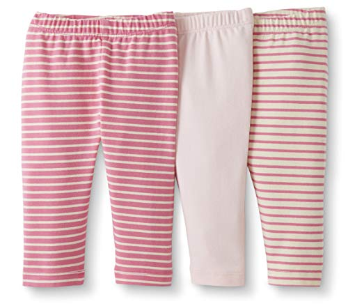 Moon and Back by Hanna Andersson Baby/Toddler Girls' 3-Pack Organic Cotton Legging, Pink, 12-18 months from Moon and Back by Hanna Andersson
