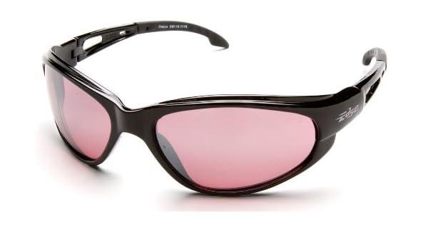 6201d50ac61f 12 Pack Edge Eyewear SW119 Dakura Safety Glasses Black Frames Rose Mirror  Lens