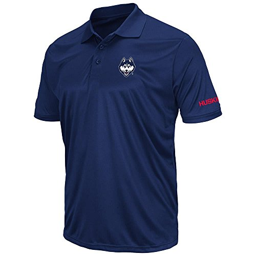 Mens UConn Huskies Short Sleeve Polo Shirt - L