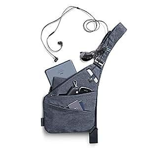 Amazon.com : NIID-FINO Sling Shoulder Crossbody Chest Bag Grey Slim