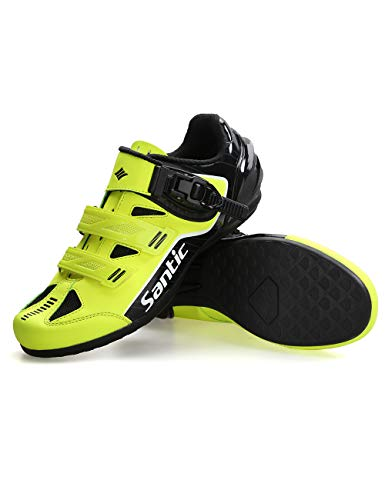 Santic Cycling Shoes Mens Cycle Shoes Road Bike Mountain Bike MTB Shoes Flat Without Cleats Set – Caribbean