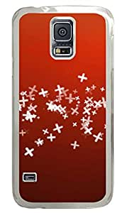 Red PC Transparent Hard Case Cover Skin For Samsung Galaxy S5 I9600