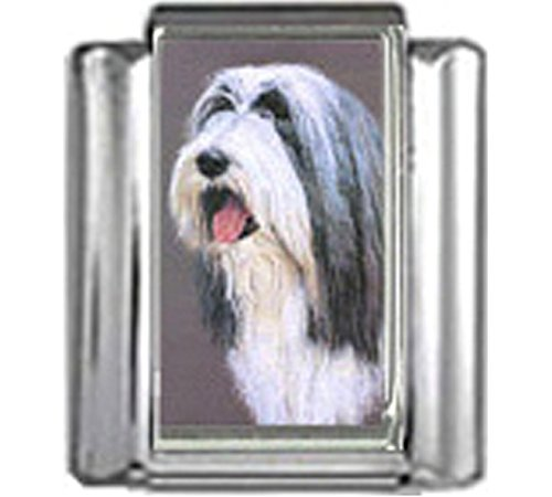 Stylysh Charms Bearded Collie Dog Photo Italian 9mm Link DG061