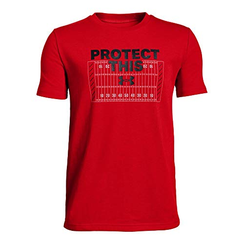Under Armour Protect This Tee Yth, Red//Black,