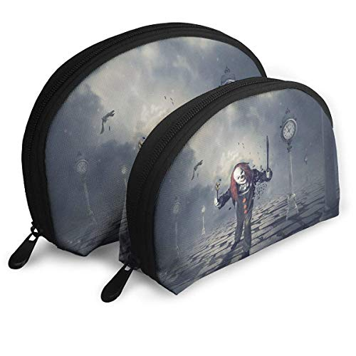 Portable Bags Clutch Pouch Evil Clowns Storage Bag Cosmetic Case Carry On Travel Toiletry Bag ()