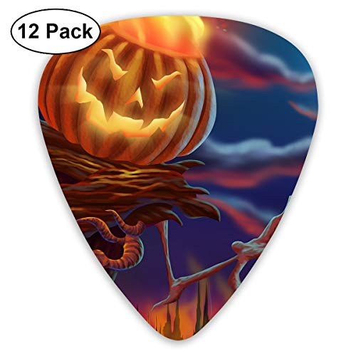 351 Shape Classic Guitar Picks Scarecrow Night Plectrums Instrument Standard Bass 12 Pack