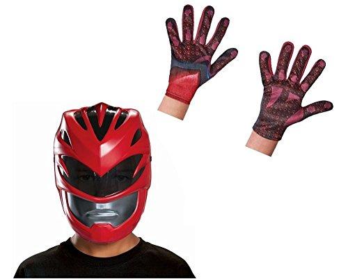 Wonder Clothing Boys Red Power Ranger Movie Mask and Gloves Set
