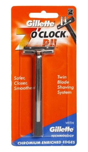 Gillette 7 O Clock PII Twin Blade Shaving Safer
