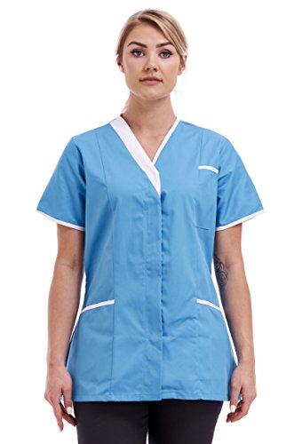 Fashion Link - Top uniforme sanitaria - Maniche corte - Donna Turquoise