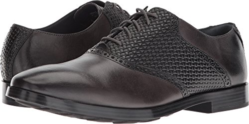 Cole Haan Mens Jefferson Grand Saddle Magnet/Black Woven 10.5 W - (Mens Saddle)
