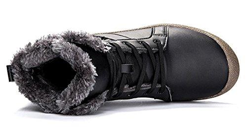 Stivali Da Neve Antiscivolo Da Uomo Con Eagsouni Da Uomo Con Stivaletti Alla Caviglia Completamente Foderati, Scarpe Invernali Invernali Di Alta Qualità