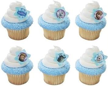 Amazon.com: 1 x 24 Disney s Frozen Cupcake Rings: Toys & Games