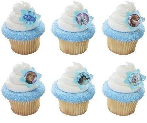 1 X 24 Disney's Frozen Cupcake Rings]()