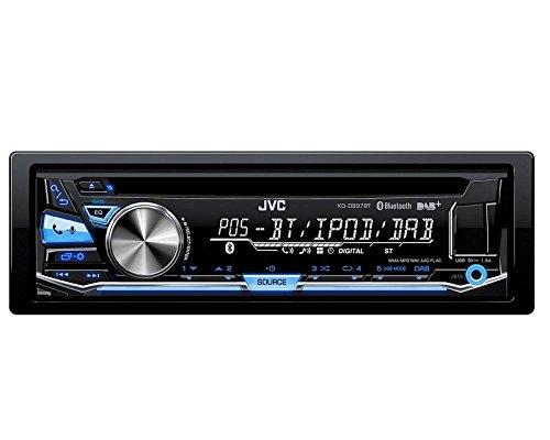 Auto Radio JVC DAB Bluetooth USB CD incl DAB Antenne variocolor passend fü r Skoda Fabia 6Y Facelift 8/04 > 12/07 KDDB97