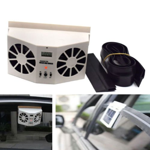 Rear Door Vent - Ivory Corlor Solar Dual Fan Car Front/Rear Window Air Vent Cool Cooler Fan Dossy