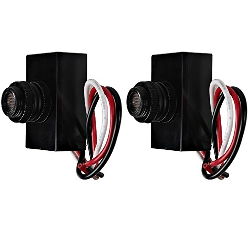 2 Pack Hykolity Outdoor Post Eye Light Photo Control Thermal Type