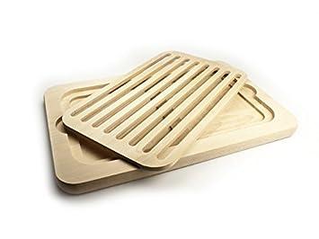 Küche küche rotbuche : Brot-Schneidebrett mit Krümel-Gitter aus robuster ungeölter ...