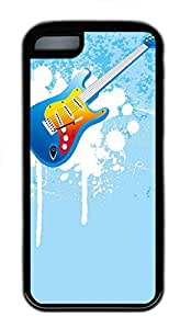 iPhone 5C Cases & Covers - Music Guitar Figure TPU Custom Soft Case Cover Protector for iPhone 5C¿CBlack