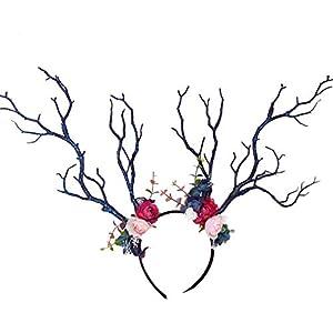 YAZILIND Mori Stylish Headdress Christmas Elk Berry Floral Headband Cute Flower Girls Dance Performance Accessories…