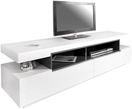 Diseño mueble para TV-board SASKIA Original MCA brillante blanco ...