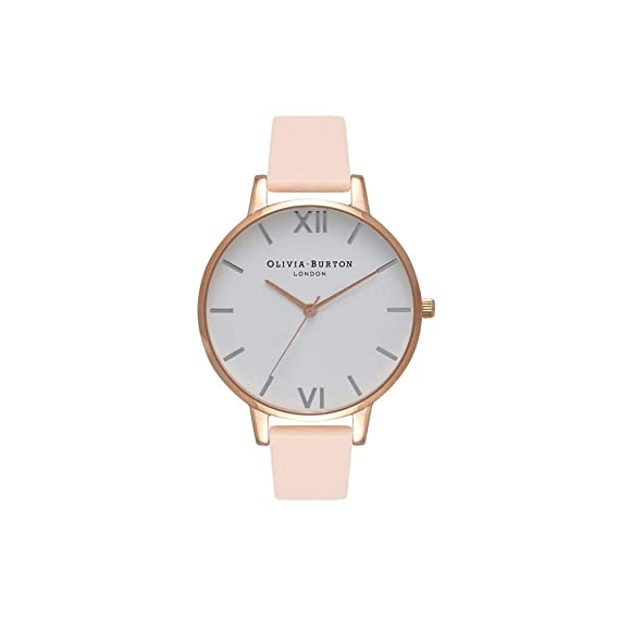 Olivia Burton Reloj Analógico para Mujer de Cuarzo con Correa en Cuero OB16BDW21: Amazon.es: Relojes