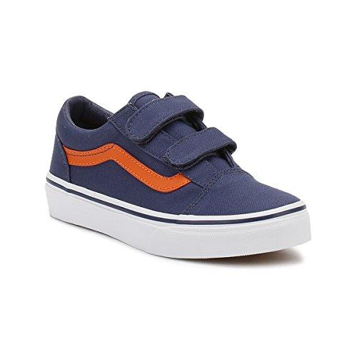 Vans Uy Old Skool V, Zapatillas para Niños Crown Azul/Mandarin Naranja