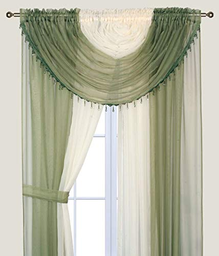Sapphire Home Complete Window Sheer Curtain Panel