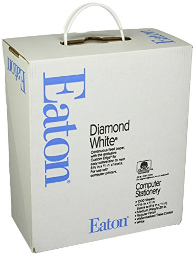 Southworth Continuous Feed Business Paper, White, 20-Lb, 8.5 x 11 Inches, 25% Cotton, 1000 Count (35-520-10)