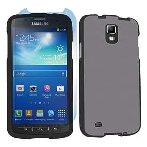 Samsung Galaxy S4 Active SGH-i537 (AT&T) Black Case + Screen Protector - Smoke Gray By SkinGuardz