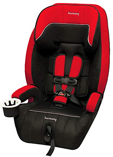 Harmony Defender 360 3-in-1 Deluxe Car Seat, Black/Red Harmony Juvenile Products 0302015RBLK