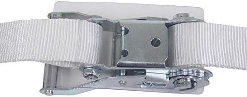 アヴィエラン(AVIELAN) ラッシングベルト Iフック ×3m 固定側2.5m ホワイト