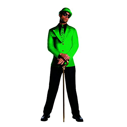 Rubie's Costume Men's Dc Super Villains Adult Riddler, Green/Black, (Halloween Costumes The Riddler)