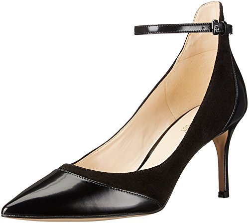 West Black Leather Slingback Pumps (Nine West Women's Morrisa Dress Pump, Black, 7.5 M US)