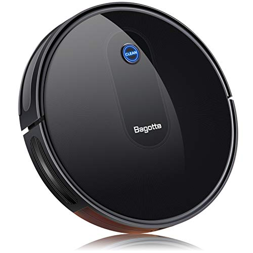 "Robot Vacuum, Max Suction Robotic Vacuum Cleaners, 2.7"" Super Thin & Powerful Battery Life with Large Dust Bin, Daily Schedule, Self-Charging Robot Vacuums, Ideal for Pet Hair, Carpet, Hardwood Floors"
