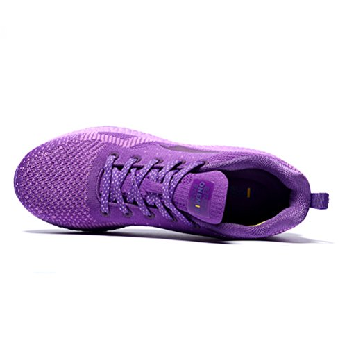 Yidiar Performance Womens Athletic Training Trail Running Running Outdoor Walking Jogging Sports Sneakers Purple