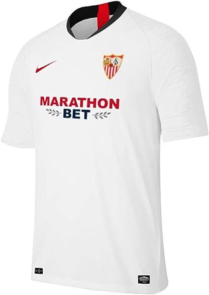 Un fiel Incompetencia Secreto  Amazon.com: Nike 2019-2020 Sevilla - Camiseta de fútbol: Sports & Outdoors