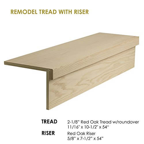 (54″ Modern RetroFit Tread Kit for Used in Stair remodeling)