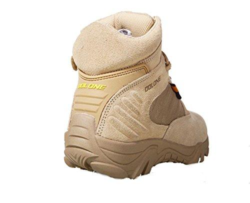 WZG los hombres de las fuerzas especiales para ayudar botas botas del desierto cremallera lateral botas bajas de combate de senderismo botas de cordones de los zapatos botas sand color